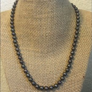 Jewelry - Cultured Black Pearls Necklace with 14kt YG Clasp